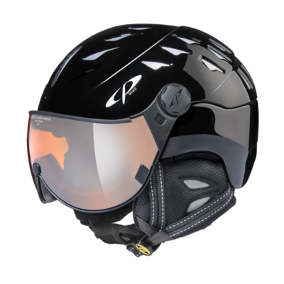 Helmet with Visor Black - Cp Cuma - Mirror Visor ☁/❄/☀ -