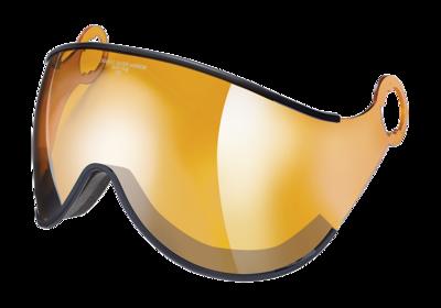 Visor Ski Helmet child CP Camulino - orange silver mirror ☁/❄/☀