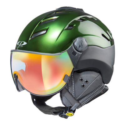 Helmet With Visor Cp Camurai Cr Vario Photochromic/Mirror ☁/❄/☀ Green
