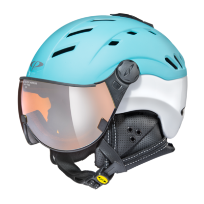 Helmet With Visor Cp Camurai Mirror ☁/❄/☀ Blue/White
