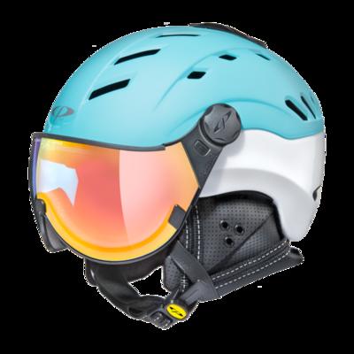 Helmet With Visor Cp Camurai Vario Photochromic/Mirror ☁/❄/☀ Blue/White