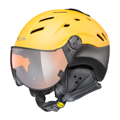 Helmet With Visor Cp Camurai Mirror ☁/❄/☀ Yellow/Black