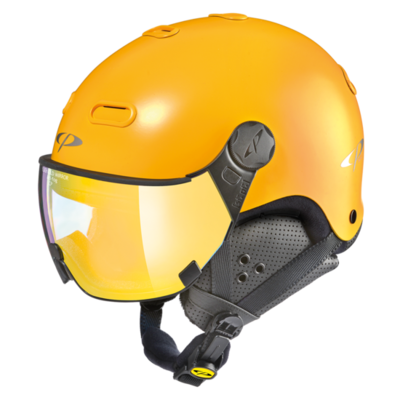 Helmet With Visor CP Carachillo - Yellow - Mirror ❄/☁/☀