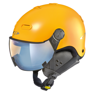 Helmet With Visor CP Carachillo - Yellow - Photochromic - Polarized - Mirror - ☁/❄/☀