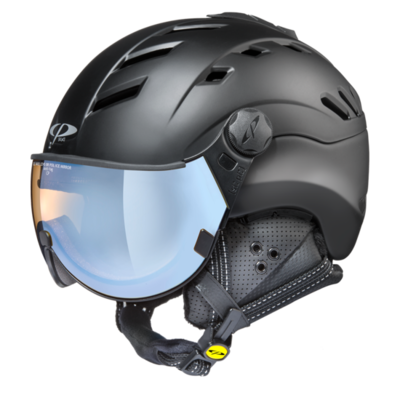 CP CAMURAI SKI HELMET - BLACK - Photochromic/Polarized/Mirror VISOR (☁/❄/☀)