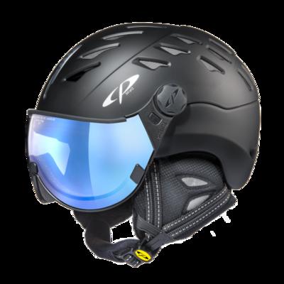 Helmet With Visor cp cuma vario -  Photochromic/Mirror ☁/❄/☀ - black