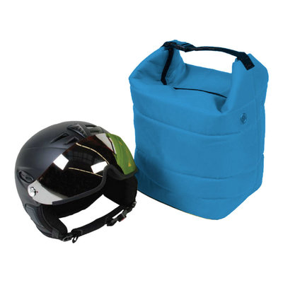 ski helmet bag blue also for ski goggle - protect your gear!