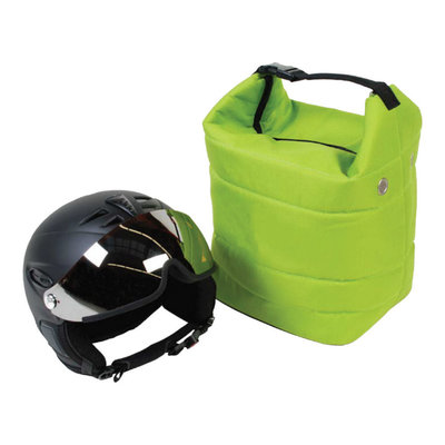 ski helmet bag green also for ski goggle - protect your gear!