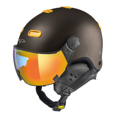 Helmet With Visor CP Carachillo - Brown - Photochromic Mirror ☁/❄/☀