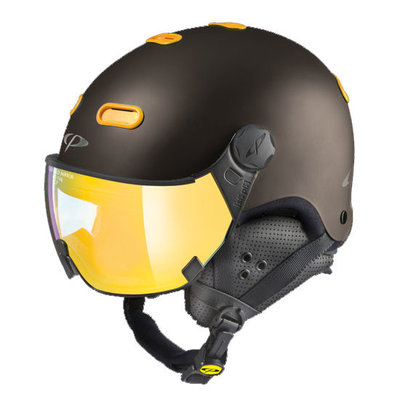 Helmet With Visor CP Carachillo - Brown - Mirror ❄/☁/☀