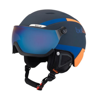 Helmet With Visor Bollé B-YOND Navy & Orange ❄/☁/☀