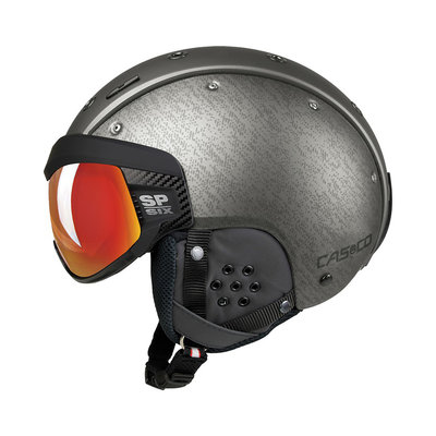 Skihelm Casco SP-6 SIX Visier - Silver - Photochromic vautron Visor - cat.1-3(☁/❄)