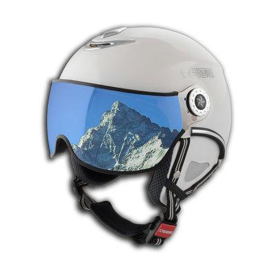 OSBE PROTON SNOW SKI HELMET - SHINY WHITE -  VISOR CAT. 1-3