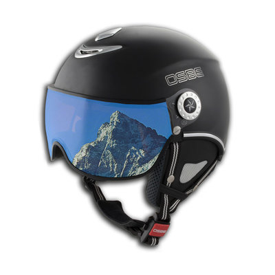 OSBE PROTON SNOW SKI HELMET - DULL BLACK - VISOR CAT. 1-3