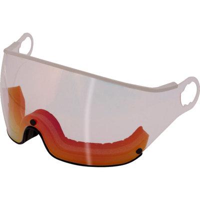 Mango Ski helmet Visor Transparent Red-white category 2 (☁/☀) - For Mango Cusna & Quota Ski helmets