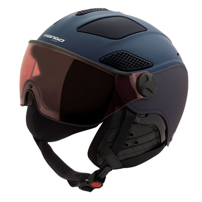 Mango Ski helmet quota plus - dark blue mat - photochromic polarised visor blue cat. 1 (☁/❄/☀)