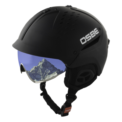 Ski Helmet Osbe Avenger with Visor Carbon Look  cat. 2 (☁/❄)
