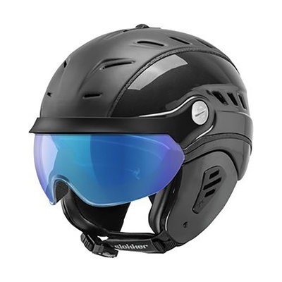 Ski helmet Slokker Bakka Multi Layer - black - photochromic Visor  (☁/☀/❄)