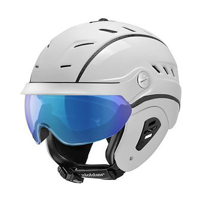Ski helmet Slokker Bakka Multi Layer - white - photochromic Visor  (☁/☀/❄)