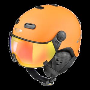 Snowboard helm met Vizier CP Carachillo_orange Dl Vario Lens Multicolour Mirror