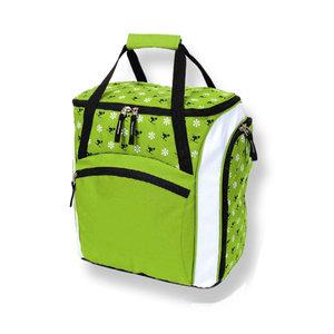 skischoenentas skhelm tas kinderen groen-wit