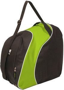 Skischuhtasche mit Helmfach-Skischuhtasche-skihelmtasche-skischoenentas-skhelm tas zwart groen
