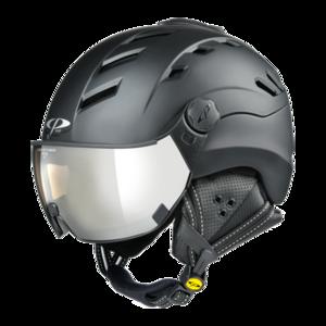 Helmet With Visor Black - CP Camurai - Photochromic Mirror Visor (❄/☁/☀)