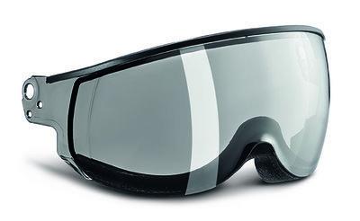 kask piuma silver mirror single lens skihelm vizier