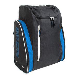 skischoenentas skhelm tas race zwart blauw