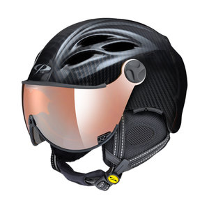 CP CURAKO SKIHELM - CARBON LOOK - ORANGE SILVER MIRROR VIZIER KOPEN