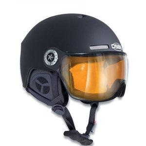 osbe skihelm met vizier dames en heren New Light R Dull Black 37816000081
