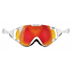 casco Skibril FX-70 carbonic wit oranje magnet Link kopen online bij topsnowshop 5077