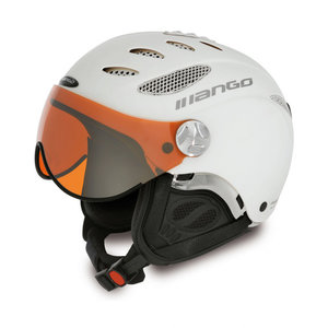 MANGO CUSNA FREE SKIHELM - WHITE MAT - ORANGE MIRROR CAT. 2 - (☁/☀/❄)