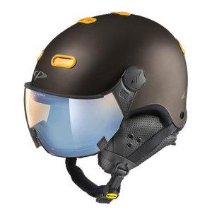 Snowboard helm met Vizier CP Helm Carachillo Vulcano s.t. maize Ice Mirror